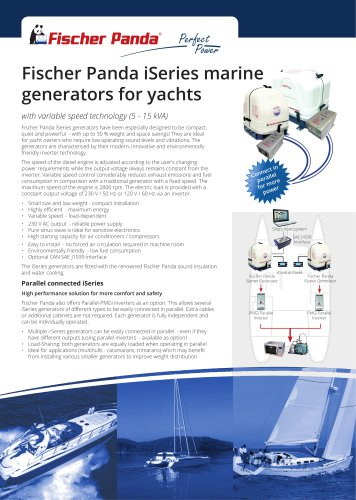 Fischer Panda iSeries marine generators for yachts