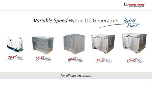 Fischer Panda Variable-Speed Hybrid DC Generators