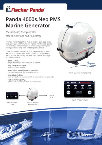 Panda 4000s.Neo PMS Marine Generator