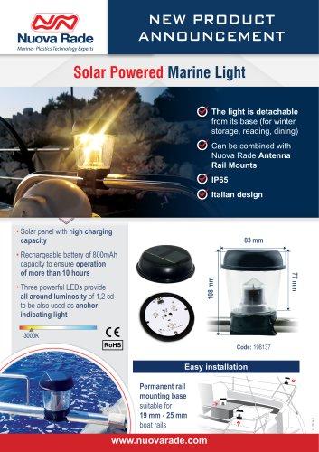 Solar Powered Marine Light