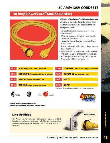 30 Amp/125V Cordsets