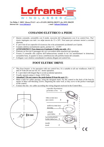 Foot electric drive