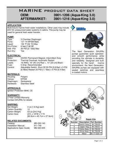 Aqua King Standard 24v 3901-1206