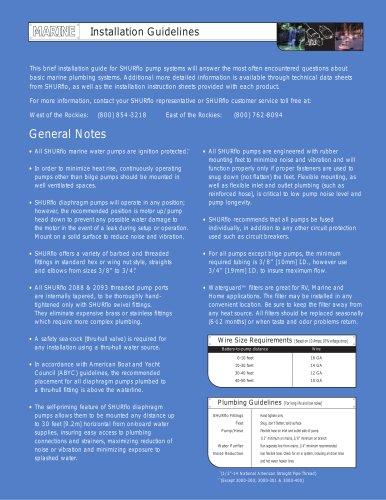 Drill Pump installation guidelines