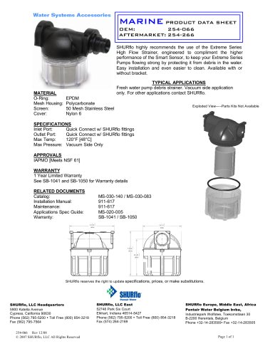 pds-Extreme HF Strainer 254-066