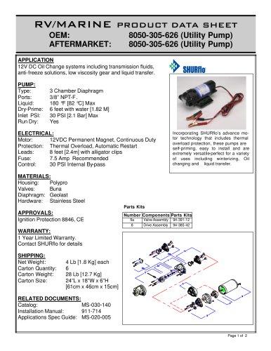 pds-Premium Utility Pump 8050-305-626