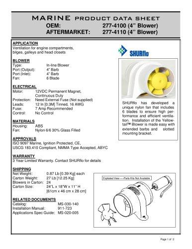 YellowTail Blower 277-4100
