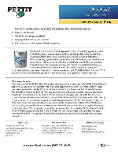 92 Bio-Blue Hull Surface Prep