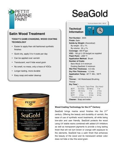 SeaGold Data Sheet