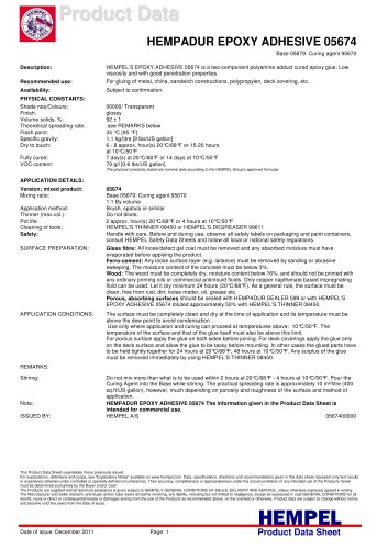 HEMPADUR EPOXY ADHESIVE 05674