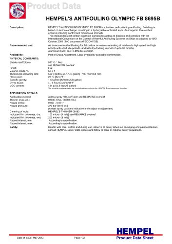 HEMPEL'S ANTIFOULING OLYMPIC FB 8695B
