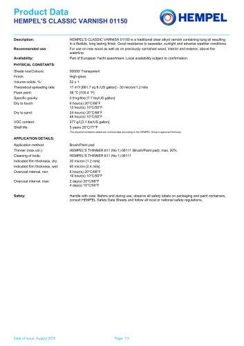 HEMPEL'S CLASSIC VARNISH 01150