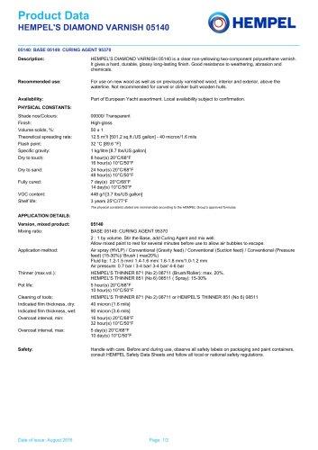HEMPEL'S DIAMOND VARNISH 05140
