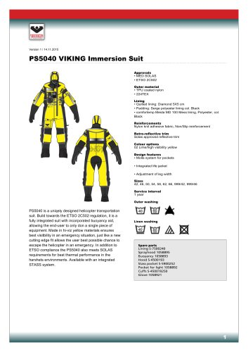 PS5040 VIKING Immersion Suit