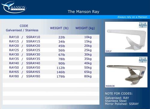 The Manson Ray Anchor