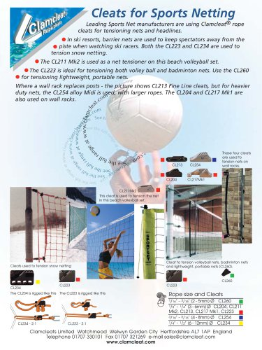 Cleats for Sports Netting