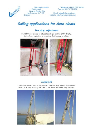 Sailing applications for Aero cleats