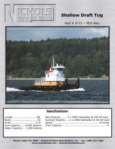 M/V Aku-Tug boat