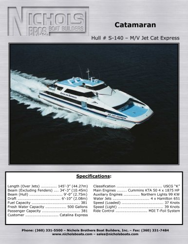 M/V Jet Cat Express - CATAMARAN