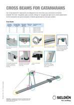 Cross beams for catamarans - 1