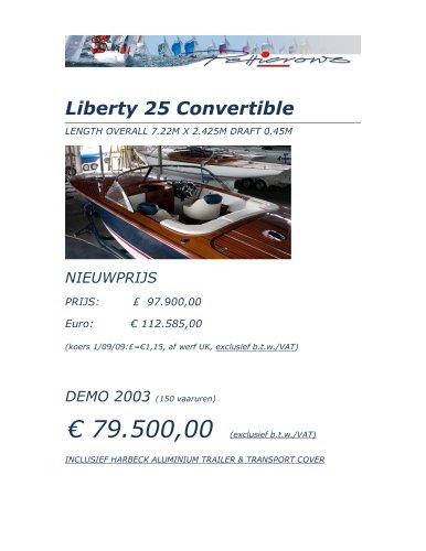 Liberty 25 Convertible