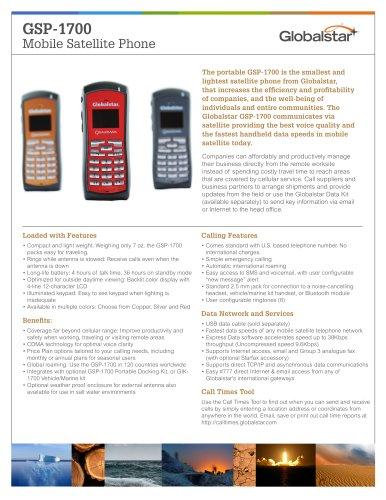 GSP-1700 Handheld Satellite Phone