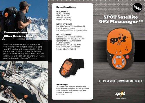 SPOT Satellite GPS Messenger