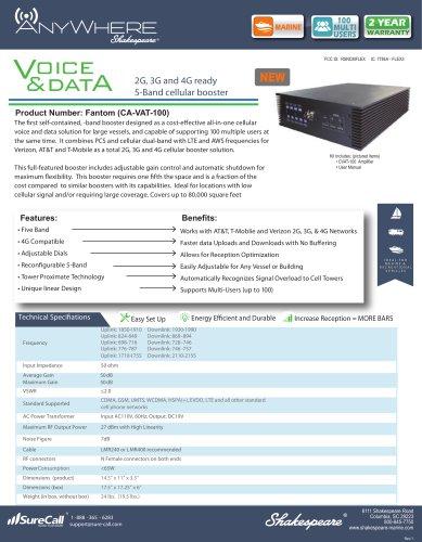 CA-VAT-100 AnyWhere AURA 2G, 3G Cellular Amplifier