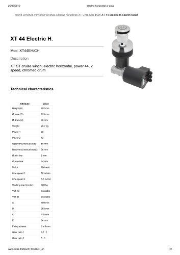 XT 44 Electric H.
