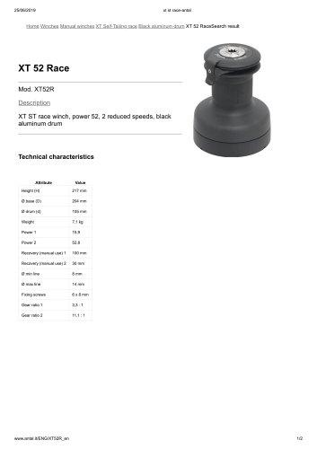 XT 52 Race