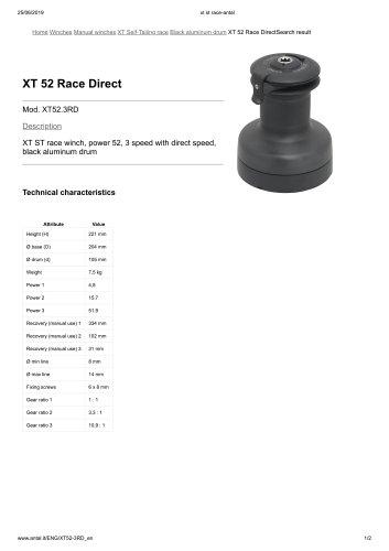 XT 52 Race Direct