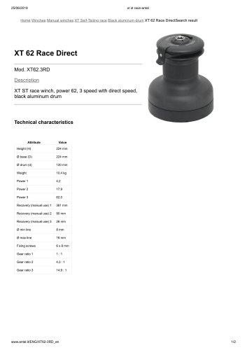 XT 62 Race Direct