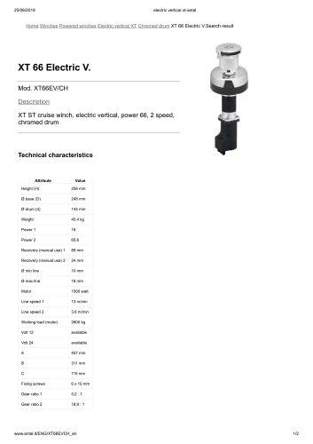 XT 66 Electric V.