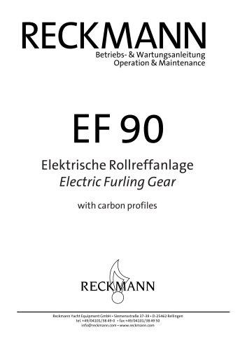 EF 90 manual - electric furling gear