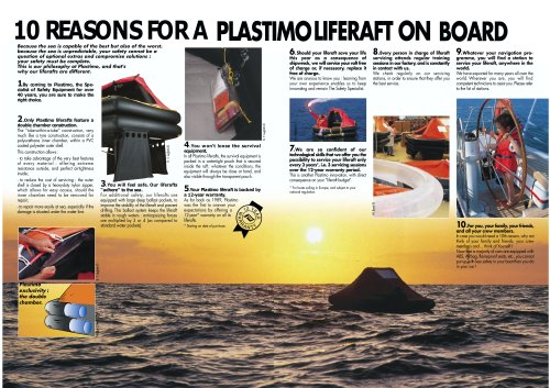 10 reasons for a platisimo life raft