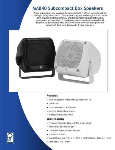 MA840 Subcompact Box Speakers