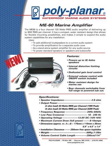 ME-60 Marine Amplifier - Poly-Planar - PDF Catalogs