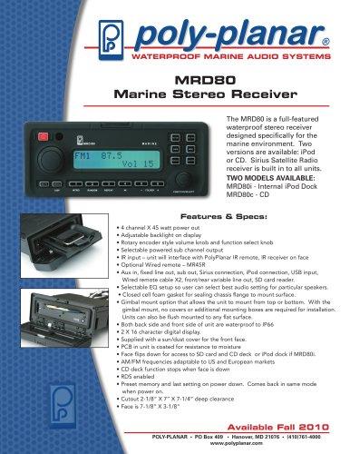MRD80 Marine Stereo Receiver