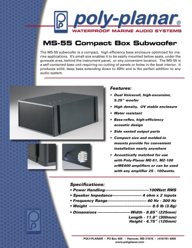 MS-55 Compact Box Subwoofer