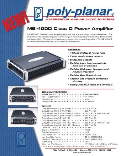 Poly-Planar ME-400D Class D Power Amplifier