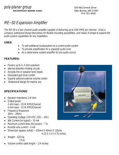 Poly-Planar ME–50 Expansion Amplifier - Poly-Planar - PDF