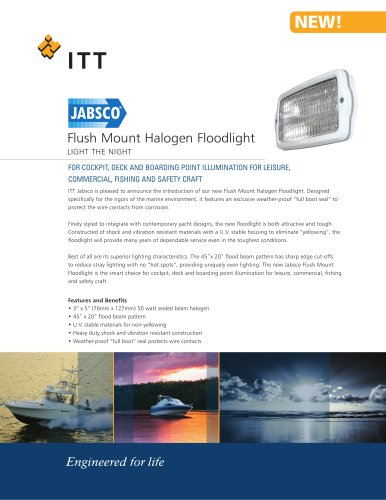 Flush Mount Halogen Floodlight