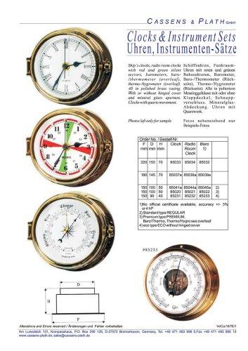 Clocks & Instruments Sets