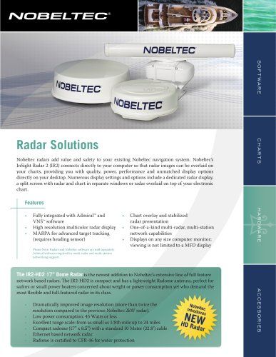 RADAR - Nobeltec - PDF Catalogs | Documentation | Boating Brochures
