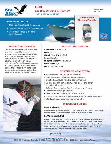 S-90 Low VOC De-Waxing & Etch Cleaner