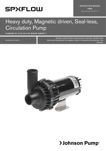 CM90 - Heavy duty, Magnetic driven, Seal-less, Circulation Pump - Manual