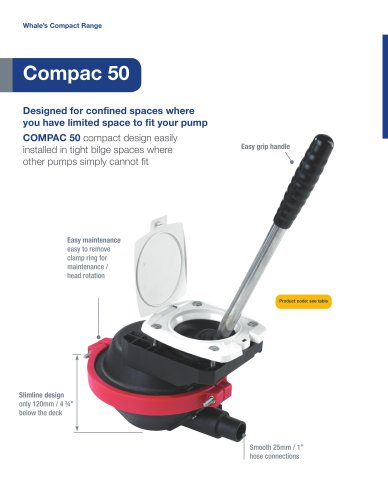 Compac 50 Manual Bilge Pump