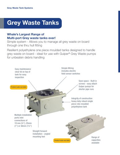 Grey waste tanks