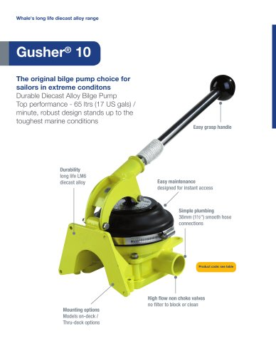 Gusher 10 Manual Bilge Pump