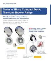 NEW Swim 'n' Rinse Compact Deck Shower - 1